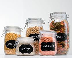 glass canister sets for kitchen homequip 5 airtight canister set with clip top