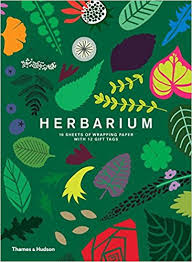 Amazon Gift Wrap Paper - herbarium gift wrap 10 sheets of wrapping paper with 12 gift tags