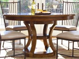 dining exclusive round pedestal dining table with metal dining