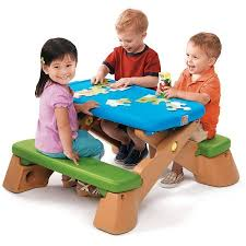 step 2 folding picnic table step2 play up fun folding jr picnic table walmart com