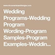 Simple Wedding Program Templates Mer Enn 25 Bra Ideer Om Wedding Program Samples På Pinterest