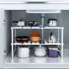 sink kitchen cabinet organizer 2 tier sink rack cabinet organizer storage expandable kitchen shelf holder