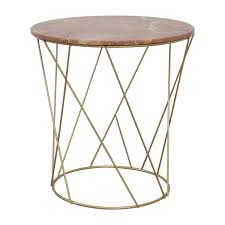 Pink Accent Table 39 Off Lotus Lotus Pink Gold Round Marble Table Tables