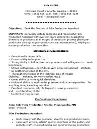 Resume Sample Ms Word by Film Resume Template Template Design