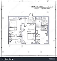 architectural professional sketch vector hand drawn stock vector