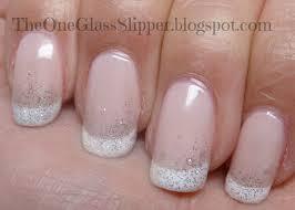 one glass slipper hello kitty polish french nail look