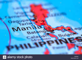 Philippines On World Map by Manila Capital City Of The Philippines On The World Map Stock