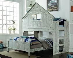 House Bunk Beds Ethan Distressed Tree House Bunk Bed