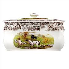 dining spode woodland bread bin all dogs with spode thanksgiving