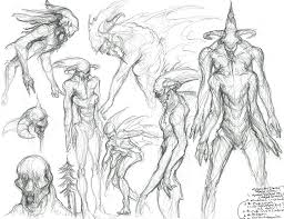 character design primordial moodboard u0026 concept sketches