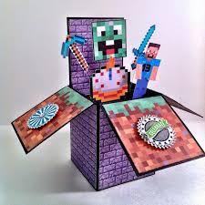 inkypinkies minecraft birthday card in a box 13th birthday