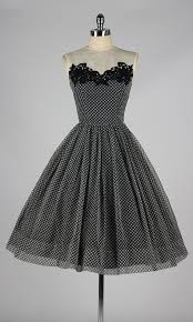 black and white polka dot pattern vintage 1950 u0027s dress 1950