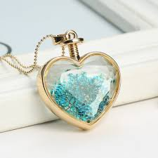 long heart pendant necklace images Wholesale wholesale fashion new jewelry romantic crystal glass jpg