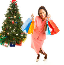 excited african american christmas shopper stock photo image