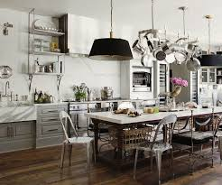 Country Kitchen Table And Chairs - french industrial country kitchen