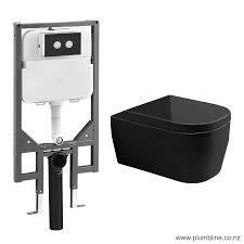 Hero 53 Wall Hung Black Toilet Package Slim Pneumatic Cistern