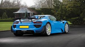 Porsche 918 Convertible - this is the only arrow blue porsche 918 and it u0027s for auction