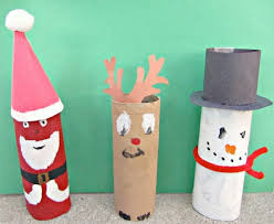 Kid Crafts For Christmas - toilet paper roll crafts kids kubby
