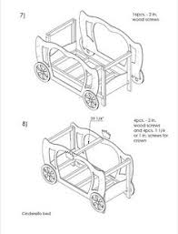 jeep bed plans pdf princess cinderella bed plans and real size templates pdf digital