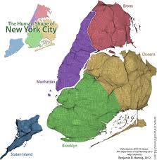 Map Of Manhattan New York City by New York City Mapping The Melting Pot Views Of The World