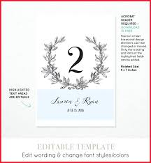 wedding table numbers template free printable wedding table number templates 272994 best printable