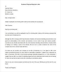 proposal rejection letter rejection letter for business proposal