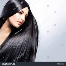 hair beautiful brunette healthy long stock photo 129364595