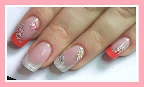 how to gel nails spring design youtube