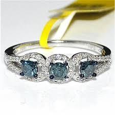 blue promise rings images Blue diamond engagement ring white gold 0 65ct 10k real diamonds jpg