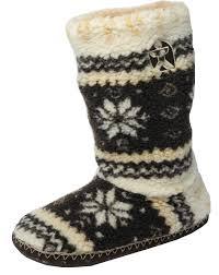 mens fairisle sherpa fleece fur tall boot bootie slippers brown mens fairisle sherpa fleece fur tall boot bootie slippers brown size m 9 10