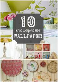Wallpaper Craft Pinterest | 10 chic ways to use wallpaper diy projects pinterest wallpaper