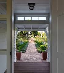 front entrance garden ideas exterior transitional with tree black