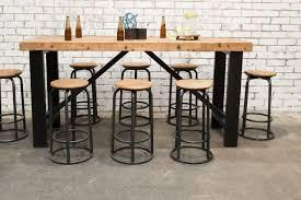 Industrial Bar Table Set F031 Set8 Stone Pony