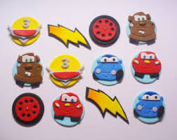 cars cake toppers cars cupcake toppers etsy