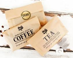 tea wedding favors wedding tea favor tea pun bags and stickers for