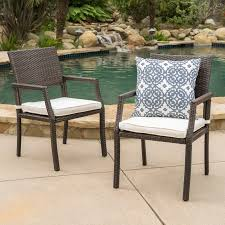 Patio Dining Chairs With Cushions Cheyenne Patio Dining Chair With Cushion Reviews Joss