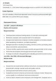 hr generalist resume sample entry level human resources generalist resume hr samples