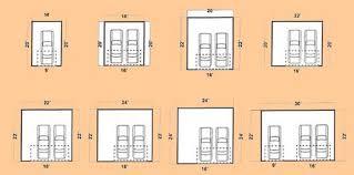 size of 2 car garage best standard garage door sizes in nifty 2 car gara 20028