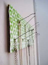 Simple Ideas To Decorate Home Simple Wire Diy Necklace Hanger On Beautiful Motive Paper With