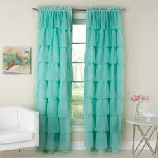 Aqua And Grey Curtains Buy Aqua Window Curtains From Bed Bath Beyond