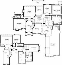 house floor plans with 2 staircases