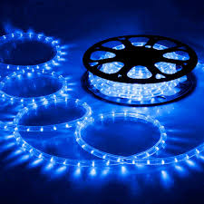 Christmas Rope Lights Blue by 150 U0027 Led Rope Light 110v 2 Wire Party Home Christmas Outdoor Xmas