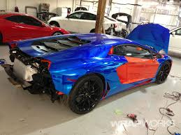 lamborghini aventador wrap blue chrome lamborghini aventador vehicle wrap
