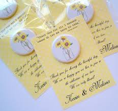 sunflower wedding favors sunflower wedding favor ideas sheriffjimonline