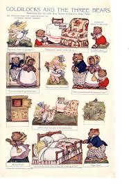 miss missy paper dolls goldilocks and the three bears