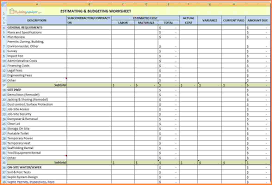 Home Budgeting Spreadsheet by 5 Home Renovation Spreadsheet Excel Spreadsheets Group