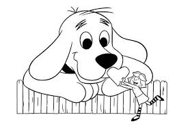 clifford coloring pages emily give clifford the big red dog big heart coloring page emily