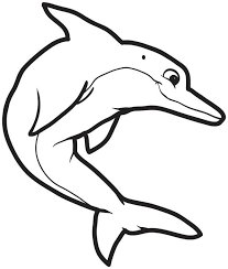 free printable dolphin coloring kids 3