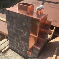 copper chimney flashing donahue wood roofing