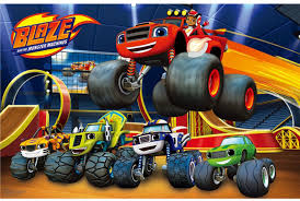 blaze monster trucks party game play pin tail donkey